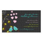 PixDezines love birds+floating hearts/diy colors Business Card Template