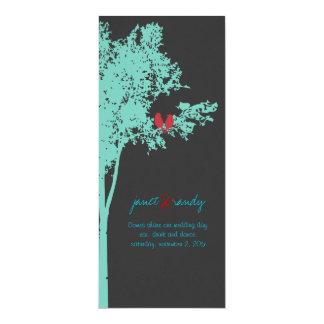 PixDezines Love Birds, Teal Ash Tree/DIY color! Card