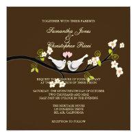 PixDezines Love Birds/White Doves Invitation