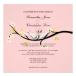 PixDezines love doves/diy background color Personalized Invites