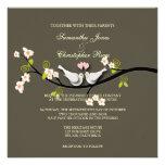 PixDezines love doves ~ DIY background Personalized Invitations
