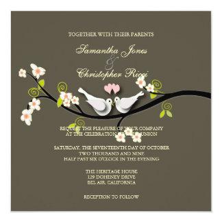 PixDezines love doves ~ DIY background 5.25x5.25 Square Paper Invitation Card