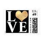 PixDezines Love/Heart/Gold/DIY Backgrnd color Postage