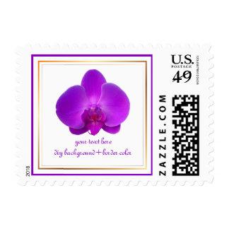PixDezines magenta orchid diy background+fonts Postage Stamps