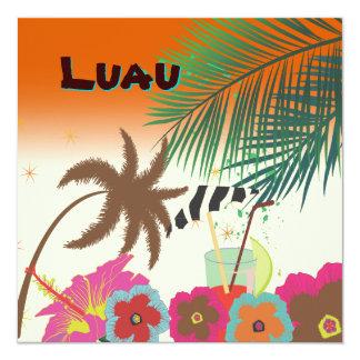 PixDezines Mai Tai, Luau at the beach Card
