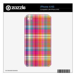 PixDezines malibu plaid Skin For iPhone 4S