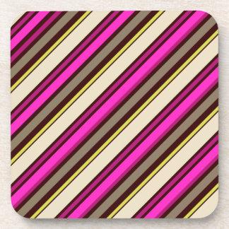 PixDezines Malibu Stripes/DIY background color Drink Coaster