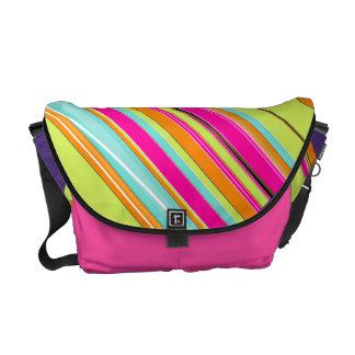 PixDezines Malibu Stripes/DIY colors Messenger Bag