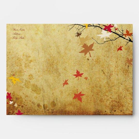 PixDezines Maple Branch, Faux Parchment Envelope