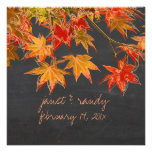 PixDezines maple leaves+chalkboard/fall event Custom Announcements