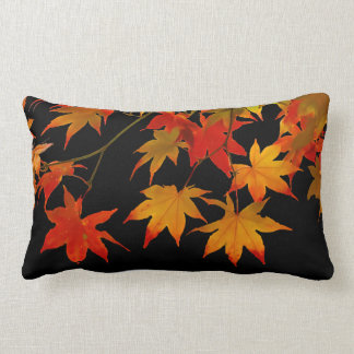 PixDezines maple leaves/diy background colors Lumbar Pillow
