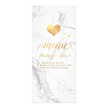 Beach Themed PixDezines Marble/Shine Menu/Faux Gold Rack Card