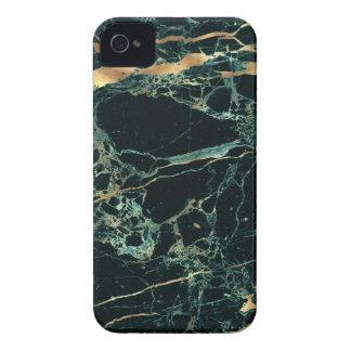 PixDezines Marble, Teal Green + Gold Veins iPhone 4 Case