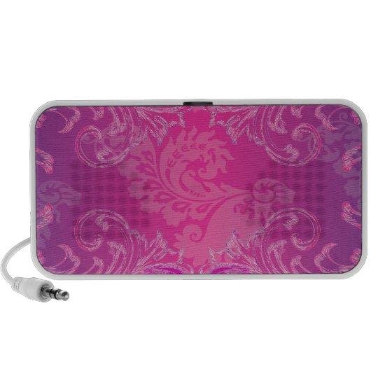 PixDezines Marie Antoinette Hot Pink/Fuschia Portable Speaker