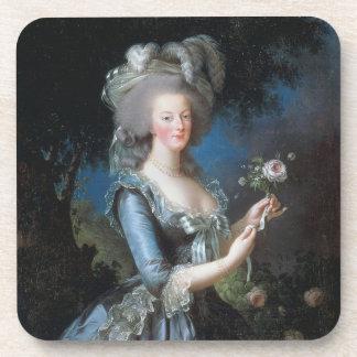 PixDezines Marie Antoinette+Rose Beverage Coaster