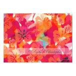 """PixDezines Maui Hibiscus 5"""" X 7"""" Invitation Card"""