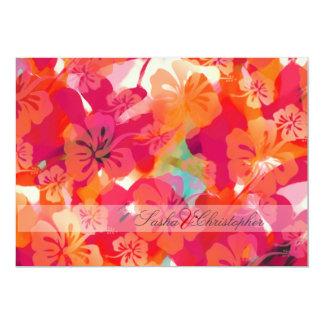 PixDezines Maui Hibiscus Personalized Invite