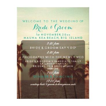 Beach Themed PixDezines Mauna Kea Beach Wedding Program Canvas Print
