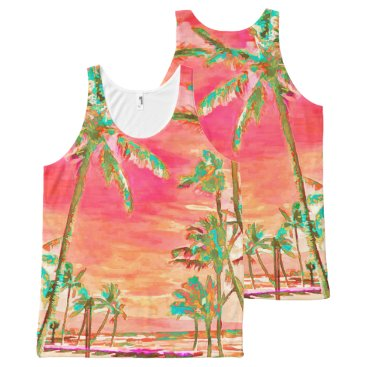 Beach Themed PixDezines Mauna Lani Bay DIY text All-Over-Print Tank Top