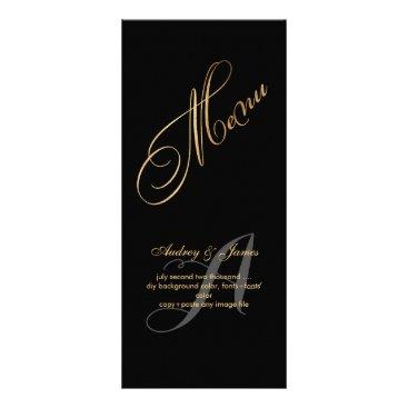 PixDezines Menu/Fancy Script/Faux Gold Rack Card