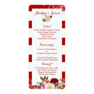 PixDezines Menu Vintage Roses/Peonies/Primrose Card