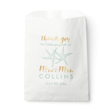 Beach Themed PixDezines Mint Green Starfish Favor Bag