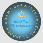 PixDezines mitzvah/DIY color Classic Round Sticker