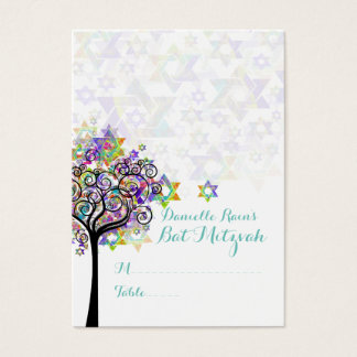 PixDezines Mitzvah Place Cards/Tree of Life Business Card