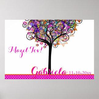 PixDezines Mitzvah Tree of Life Sign In Board