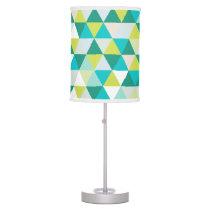 PixDezines mod geometric pattern/teal green Desk Lamp