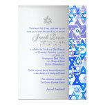 PixDezines mod stars/Bar Mitzvah/dark blue/silver Invitation