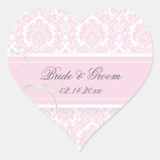 PixDezines moiré damask wedding stickers