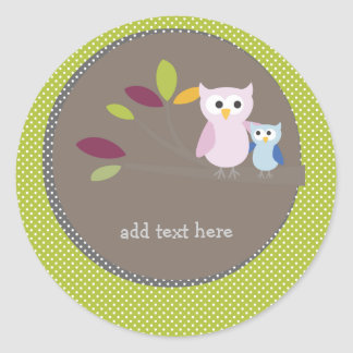 PixDezines Mommy+baby for a baby shower Classic Round Sticker