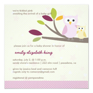 PixDezines Mommy+baby for a baby shower 5.25x5.25 Square Paper Invitation Card