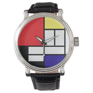 PixDezines Mondrian Art Wrist Watch