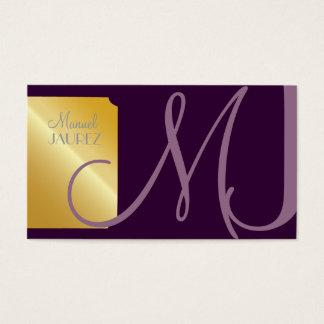 PixDezines Monogram Business Card en retro colours