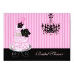 PixDezines monogram cake, bridal shower 5x7 Paper Invitation Card
