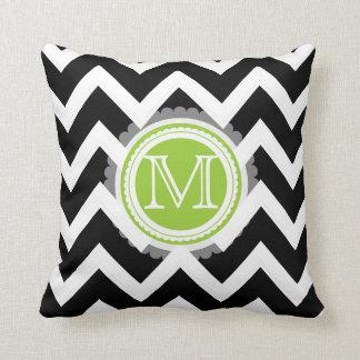 PixDezines monogram chevron pattern/diy colors Pillows