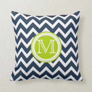 PixDezines monogram diy color chevron pattern Throw Pillow