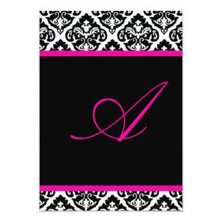 PixDezines monogram olivia damask/ DIY color+fonts 5x7 Paper Invitation Card