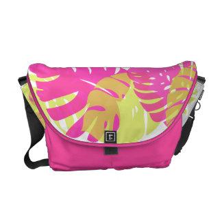 PixDezines monstera/diy background color Messenger Bags