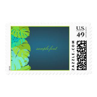 PixDezines monstera leaves/DIY background color Postage Stamp