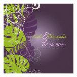 PixDezines Monstera, Tropical Foliage + Swirls Custom Invite
