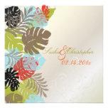 PixDezines Monstera, Tropical Foliage+Swirls Invites