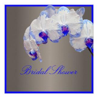 PixDezines moth orchids/blue Custom Invitations