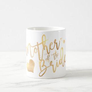 PixDezines Mother of Bride/Faux Gold Script Coffee Mug