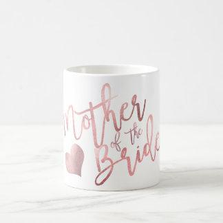 PixDezines Mother of Bride/Faux Rose Gold Script Coffee Mug