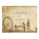 PixDezines/mudanza/Londres del vintage/bosquejado Postales