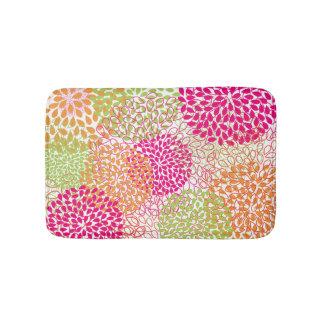 PixDezines mums/daisies/diy background color Bathroom Mat