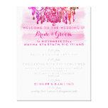 PixDezines murano glass chandelier wedding program Canvas Prints